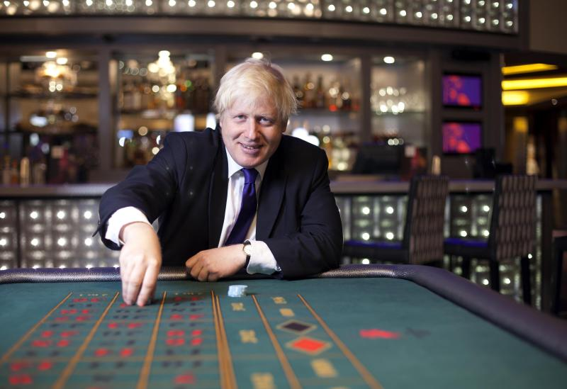 London Mayor Boris Johnson officially opens the Hippodrome in Leicester Square after its conversion into a casino