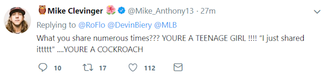 Screengrab of Mike Clevinger's tweet.