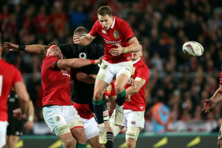 The British and Irish Lions in action against the All Blacks in 2017