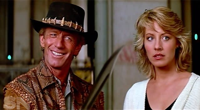 Hogan ended up marrying (and divorcing) his Crocodile Dundee co-star, Linda Kozlowski.