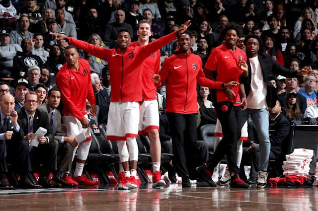 Smart trades, good drafting and better player development have given the Raptors a deep, talented bench that can wear down opponents. (Getty)
