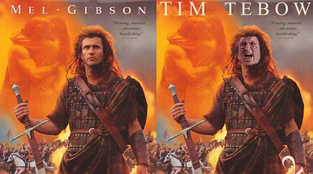 It is a known fact that Tim Tebow's favorite movie is Braveheart, the 1995 period action flick starring Mel Gibson as William Wallace.