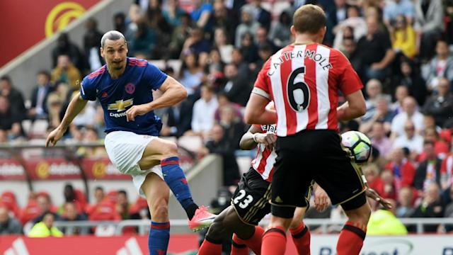 Zlatan Ibrahimovic and Henrikh Mkhitaryan kept Manchester United in the top-four hunt and pushed Sunderland towards the Premier League drop.