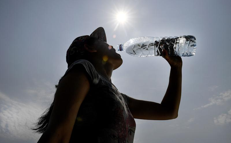 People who drink water from plastic bottles are particularly at risk, the study found (Photo by Fred TANNEAU / AFP)