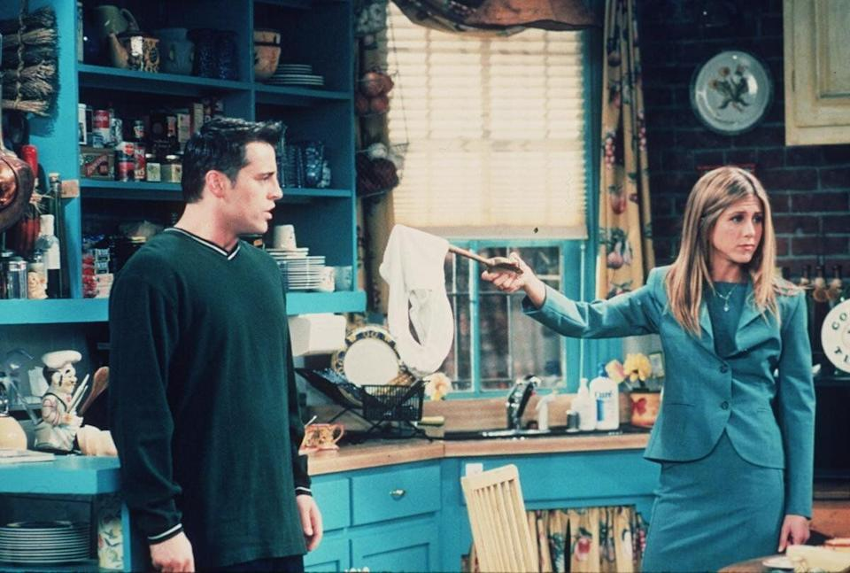 Matt Le Blanc and Jennifer Aniston star in the latest season of 'Friends.' (1999)