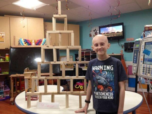 PHOTO: Cancer patient Ian Dowling pictured at Stony Brook CHildren's Hospital during his treatment. (Brett Dowling)