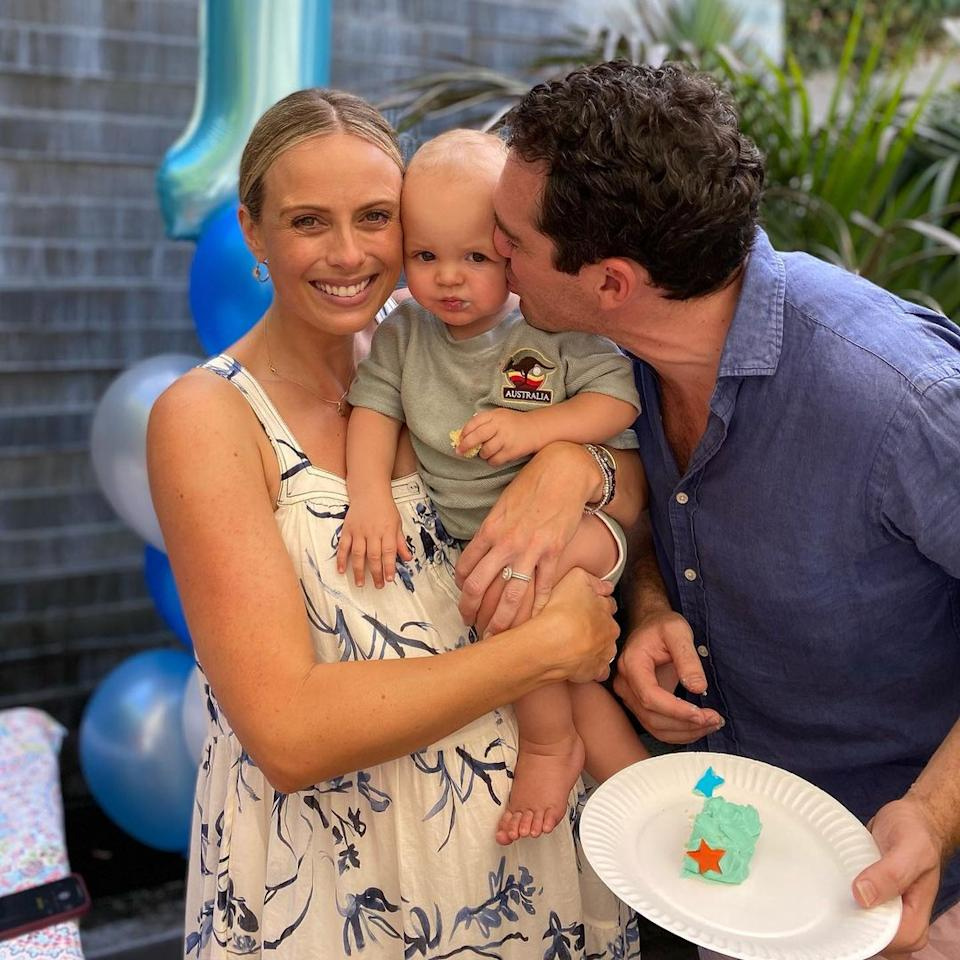 Sylvia and Peter pictured at their son Oscar's first birthday party.