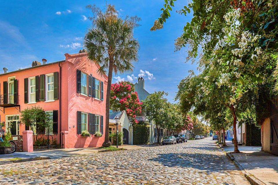 """<p>Charleston draws people from all walks of life like no other city in the South. Rich in Gullah traditions, Low Country charm, and artistic spirit, the colorful and historic streets of this small city buzz with excitement. Burgeoning horticulturists will feel right at home among the climbing roses and acanthus of author <a href=""""http://www.mrswhaleysgarden.com/"""" rel=""""nofollow noopener"""" target=""""_blank"""" data-ylk=""""slk:Emily Whaley's garden"""" class=""""link rapid-noclick-resp"""">Emily Whaley's garden</a>, while children and design-lovers will swoon over the pastel homes of Rainbow Road.<br></p><p>Can't miss beautiful places: <a href=""""https://ibumovement.com/"""" rel=""""nofollow noopener"""" target=""""_blank"""" data-ylk=""""slk:Ibu Movement"""" class=""""link rapid-noclick-resp"""">Ibu Movement</a>, <a href=""""https://zerogeorge.com/"""" rel=""""nofollow noopener"""" target=""""_blank"""" data-ylk=""""slk:Zero George"""" class=""""link rapid-noclick-resp"""">Zero George</a>, and <a href=""""https://www.draytonhall.org/"""" rel=""""nofollow noopener"""" target=""""_blank"""" data-ylk=""""slk:Drayton Hall"""" class=""""link rapid-noclick-resp"""">Drayton Hall</a><br></p>"""