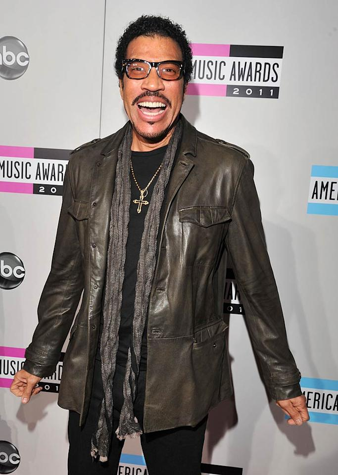 Singer Lionel Richie arrives at the 2011 American Music Awards held at the Nokia Theatre L.A. LIVE. (11/20/2011)