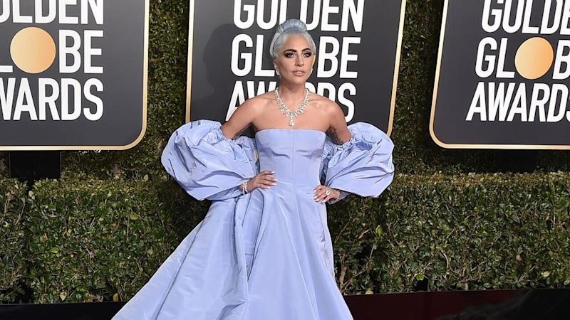 Lady Gaga's Golden Globes Dress Up for Auction After Designer Filed a Police Report That It's Missing