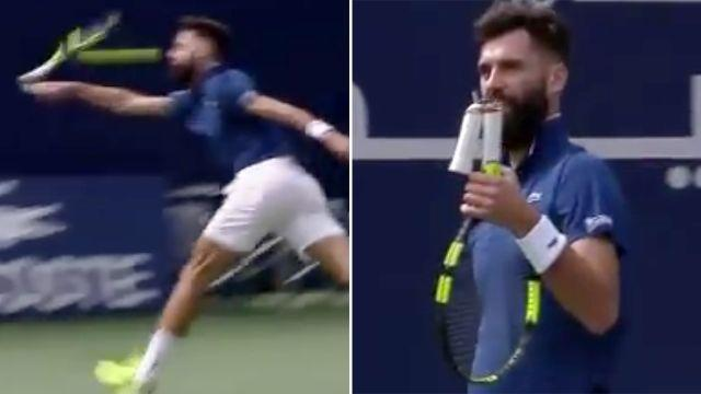 That's not ideal. Image: TennisTV