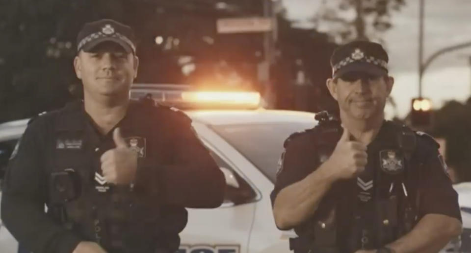 A still from a Queensland Police ad campaign on not dialling Triple-0 for unnecessary reasons is pictured.