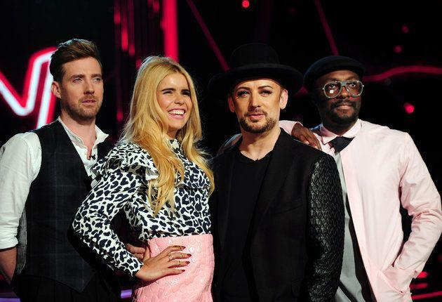 Paloma with her former The Voice co-stars in 2016 (Photo: PA)