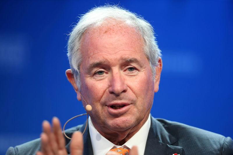 FILE PHOTO: Stephen Schwarzman, Chairman, CEO and Co-Founder of Blackstone, speaks during the Milken Institute Global Conference in Beverly Hills
