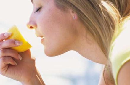Sniff a lemon to boost your mood