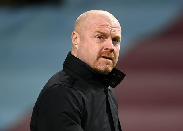 Dyche's men face Newcastle away in the Carabao Cup on Wednesday (Michael Regan/PA).