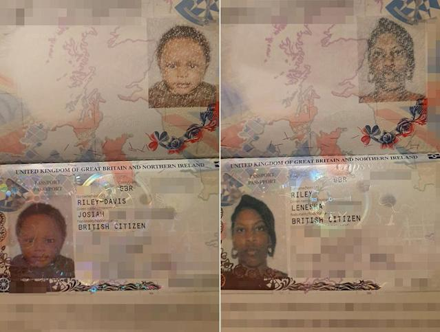 Lenesha had to pay £186 for her cousin to fly her passport out to Berlin after the mistake (Picture: SWNS)