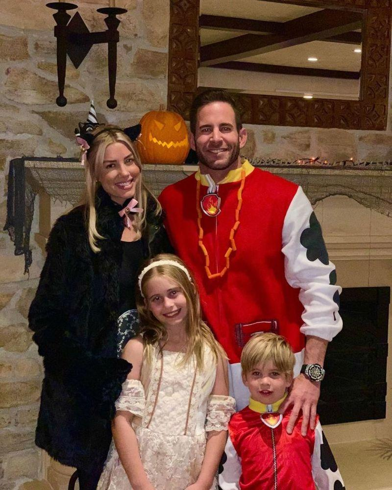 Tarek El Moussa and kids with Heather Rae Young