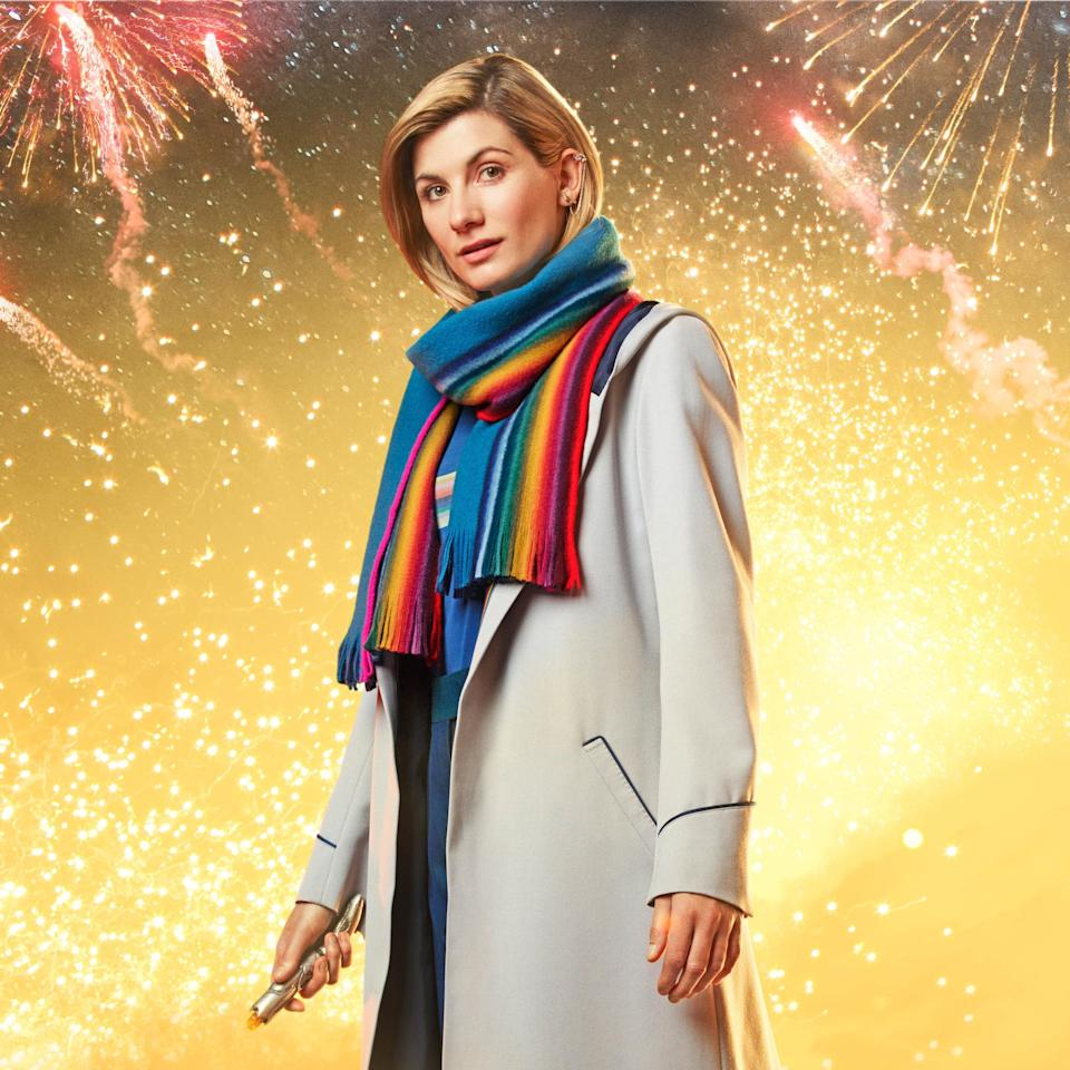 Jodie Whittaker channels 'Doctor Who' legend Tom Baker in first look at festive episode