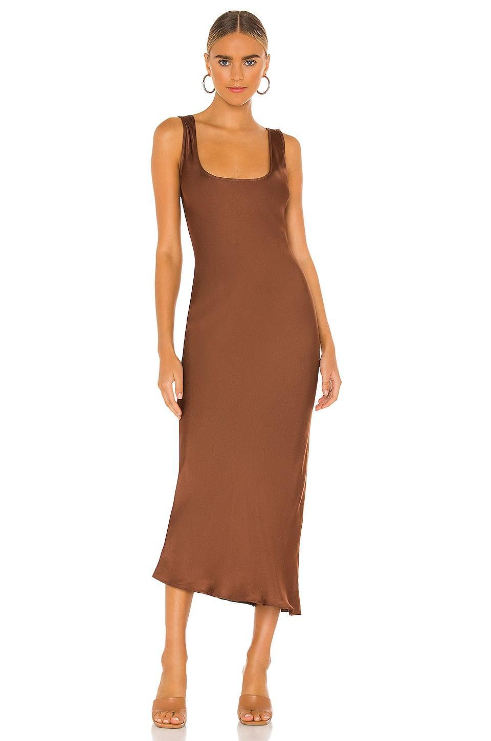 <p>This <span>Cali Dreaming Simple Slip Dress</span> ($187) is a fail-safe choice for party style.</p>