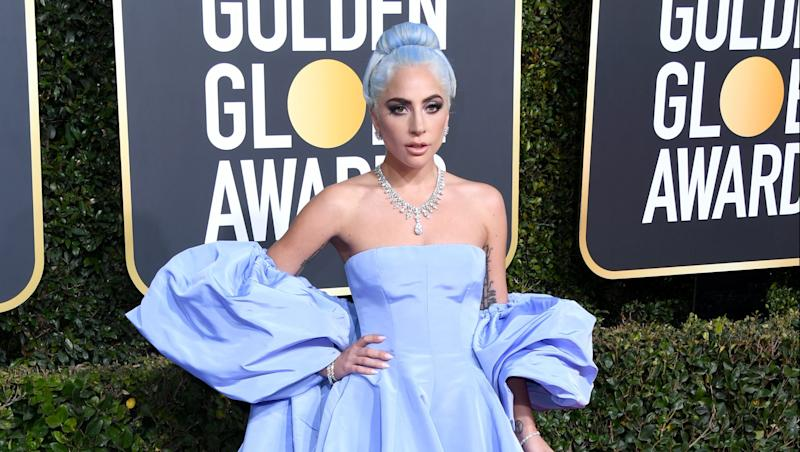 Lady Gaga's Golden Globes Dress Is Now Up For Auction & We Might Just Have To Bid