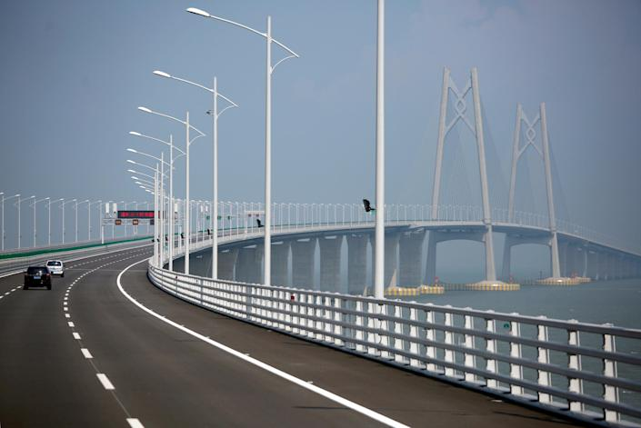 <p>The sprawling structure is set to be opened by Chinese President Xi Jinping on October 23.. (REUTERS/Bobby Yip) </p>