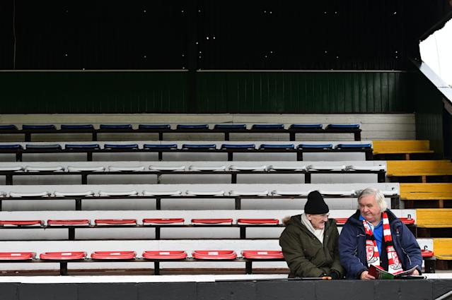 Support for Non-League clubs is smaller but fiercely loyal. (Photo credit should read GLYN KIRK/AFP via Getty Images)