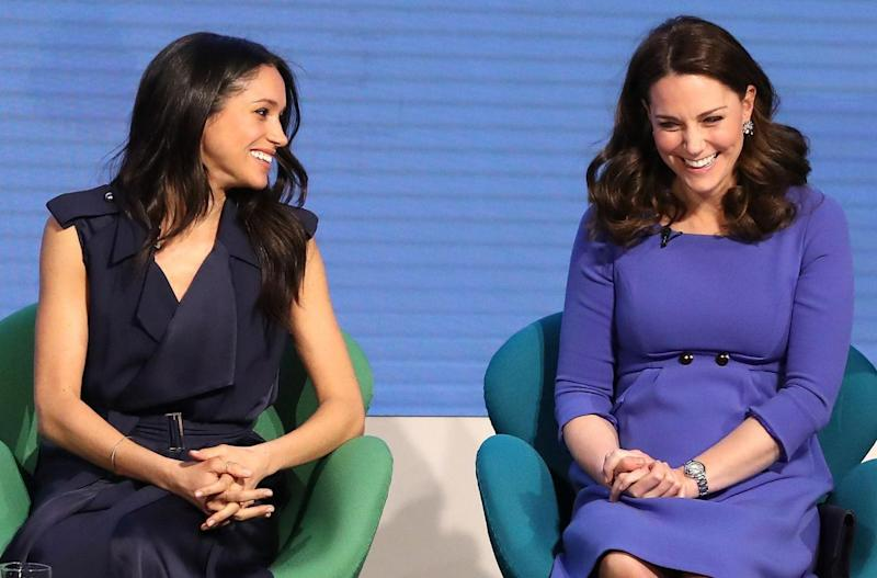 Inspired: Megan spoke about women's issues at a recent forum for the Royal Foundation (Chris Jackson/Pool/AFP/Getty Images)