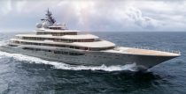 <p>This sporty Lurssen was built in 2019 and is one of the newest superyachts to have set sail. It was rumored to have been purchased by Jeff Bezos in 2019, but the reports have since been denied.</p><p><em>Flying Fox</em> accommodates 22 guests and a crew of 54. Notable amenities include a swimming pool running through the main deck and a two-floor spa facility that stretches more than 4,000 square feet.</p>