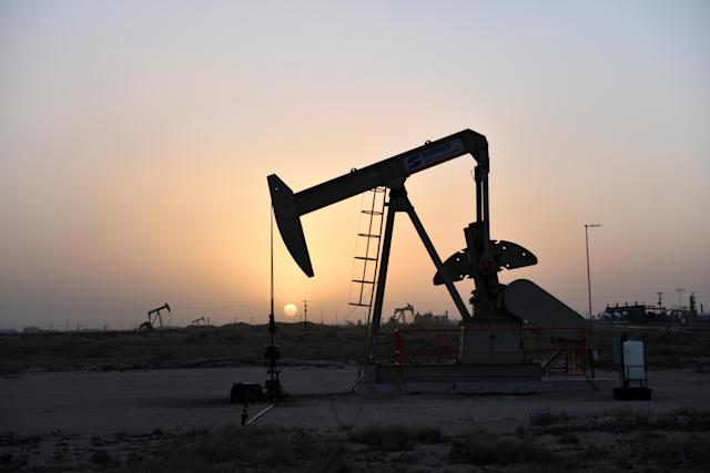 An oil field in Texas. Crude oil prices rose on Friday after several days of declines. Photo: Nick Oxford/Reuters