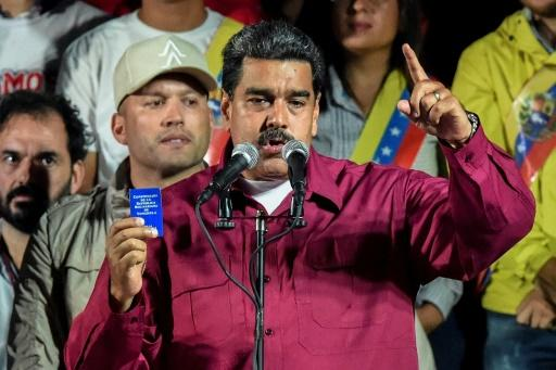 Nicolas Maduro celebrated a resounding victory in Venezuela's presidential election in a vote that his opponents rejected as invalid