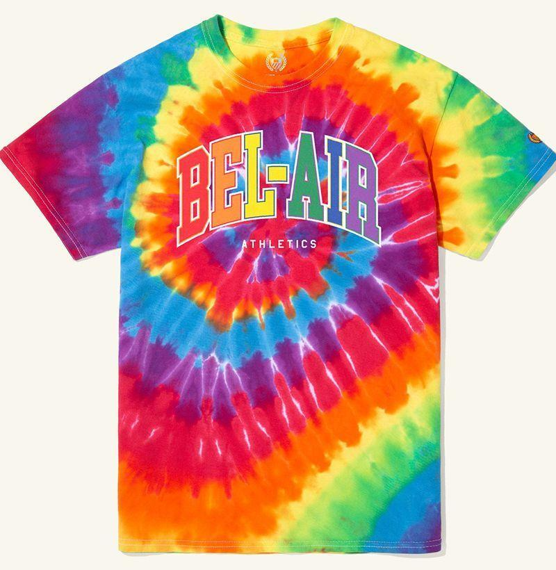 """<p><strong>Bel Air Athletics</strong></p><p>belairathletics.com</p><p><strong>$40.00</strong></p><p><a href=""""https://belairathletics.com/collections/pride/products/rainbow-tee"""" rel=""""nofollow noopener"""" target=""""_blank"""" data-ylk=""""slk:Buy"""" class=""""link rapid-noclick-resp"""">Buy</a></p><p>Bel Air Athletics is donating a portion of the proceeds from its Pride Collection to the <a href=""""https://www.lgbtqfund.org/"""" rel=""""nofollow noopener"""" target=""""_blank"""" data-ylk=""""slk:LGBTQ Freedom Fund"""" class=""""link rapid-noclick-resp"""">LGBTQ Freedom Fund</a>.</p>"""