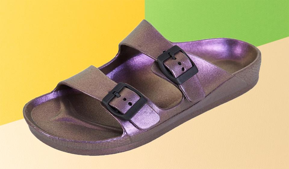The slides come in over 43 colors, ranging from metallics to pastels and neutrals. (Photo: Amazon)