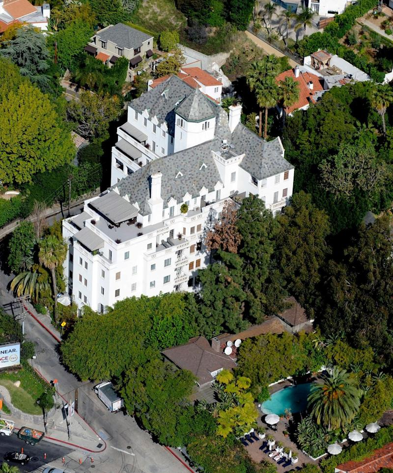 Chateau Marmont was built to resemble Chateau d'Amboisie in France - Splash News / Alamy Stock Photo