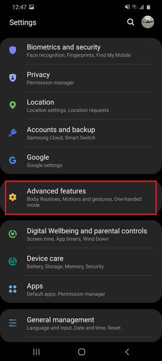 how to take a screenshot on samsung galaxy android 20200507 124725 settings