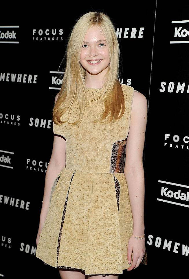 "April 9: Elle Fanning turns 13 Dimitrios Kambouris/<a href=""http://www.wireimage.com"" target=""new"">WireImage.com</a> - December 12, 2010"
