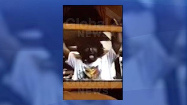 A screenshot of the video published by Global News on Thursday shows Justin Trudeau in blackface makeup.