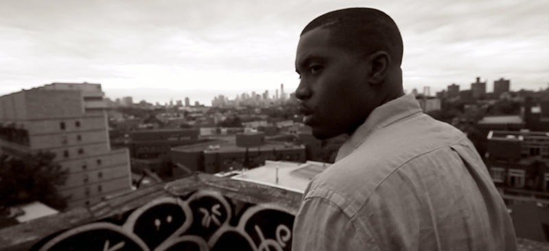 """This image released by the Tribeca Film Festival shows Nas in a scene from the documentary, """"Time is Illmatic."""" The film, which follows the trajectory of Nas' 1994 landmark debut album, """"Illmatic,"""" will open the 2014 Tribeca Film Festival on April 16. The festival will run through April 27. (AP Photo/Tribeca Film Festival)"""