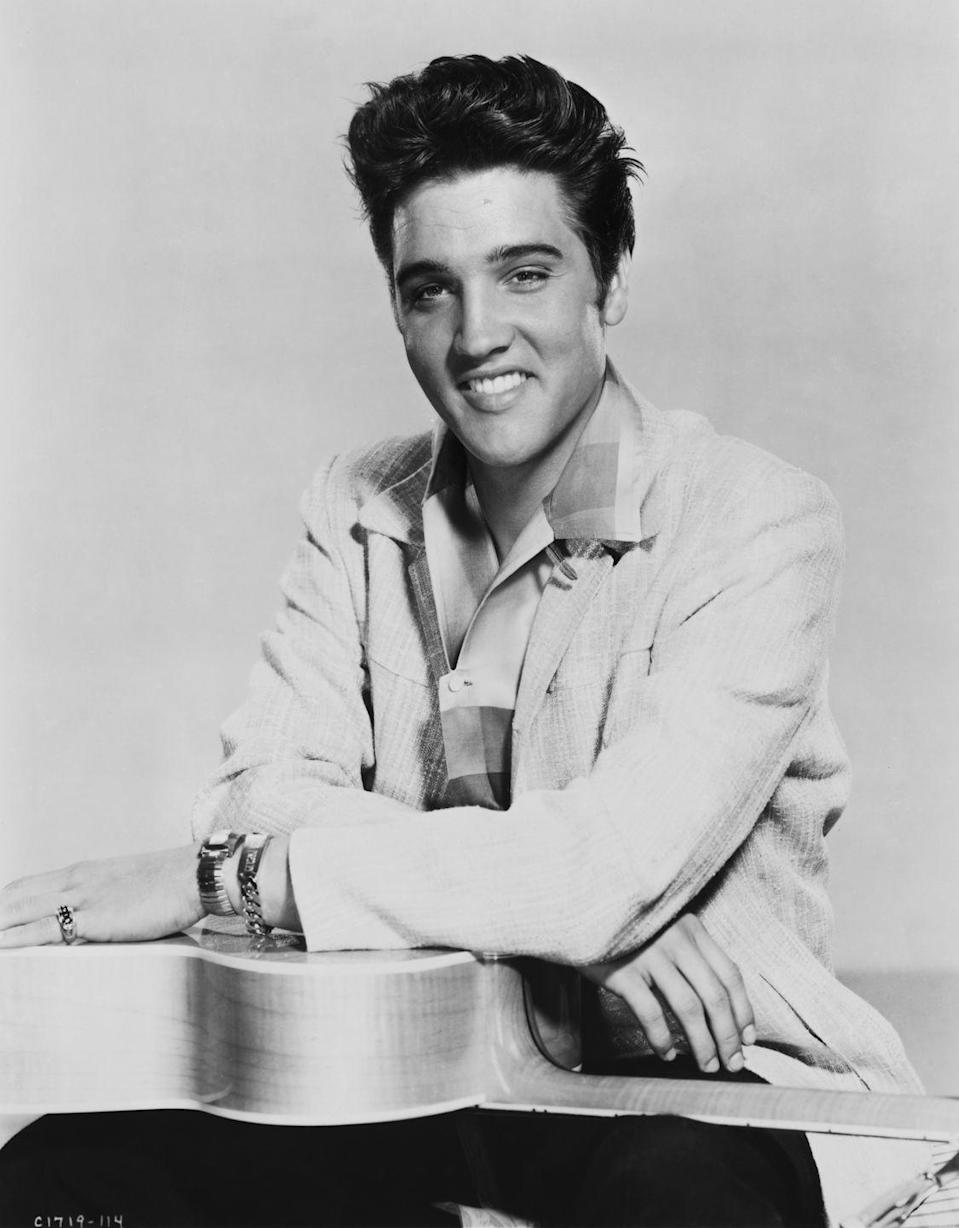 """<p>With the help of Presley's manager, Colonel Tom Parker, the singer's contract with Sun Studio was bought out by the major record label RCA Records <a href=""""https://www.graceland.com/blog/posts/elvis-presleys-first-album"""" rel=""""nofollow noopener"""" target=""""_blank"""" data-ylk=""""slk:for $35,000"""" class=""""link rapid-noclick-resp"""">for $35,000</a>. RCA also bought the rights to Presley's previously recorded songs.</p>"""