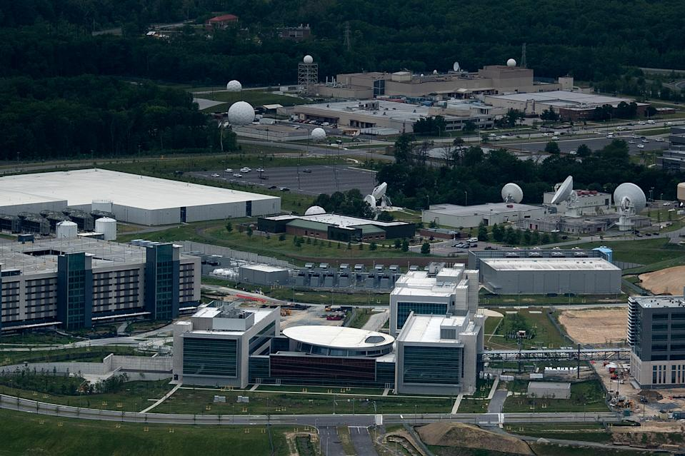 The Joint Operations Center at Fort Meade, Md.. (Brendan Smialowski/AFP via Getty Images)