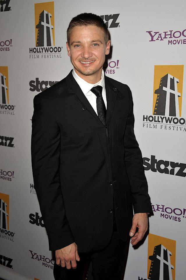 """<a href=""""http://movies.yahoo.com/movie/contributor/1804495026"""">Jeremy Renner</a> at the 13th Annual Hollywood Awards Gala held at the Beverly Hilton Hotel - 10/26/2009"""