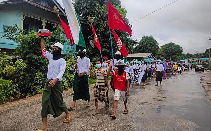 Daily protests against the junta continue in Myanmar - Dawei Watch/AFP