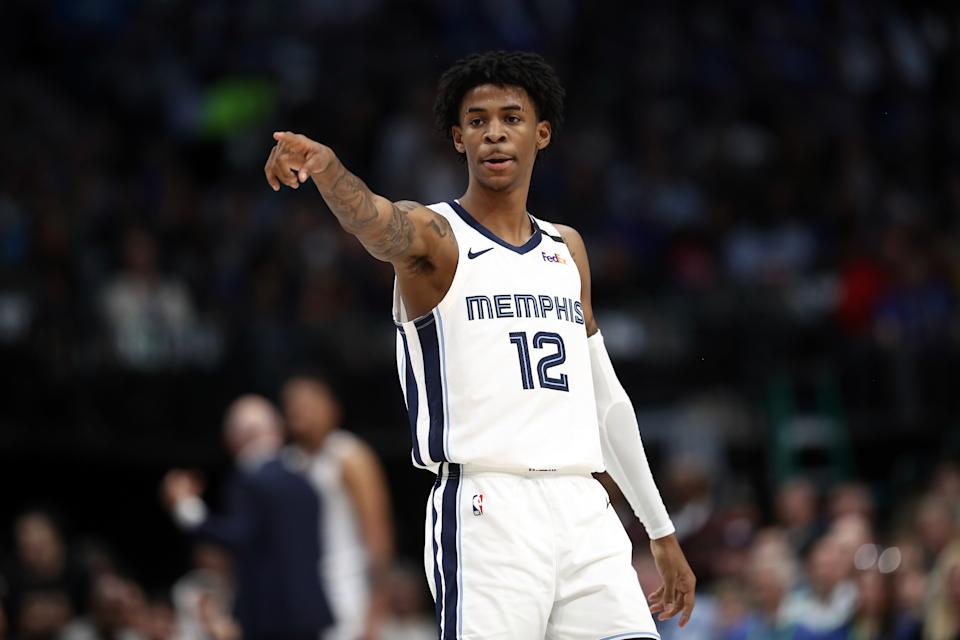 Ja Morant will surely be the NBA's Rookie of the Year. (Ronald Martinez/Getty Images)