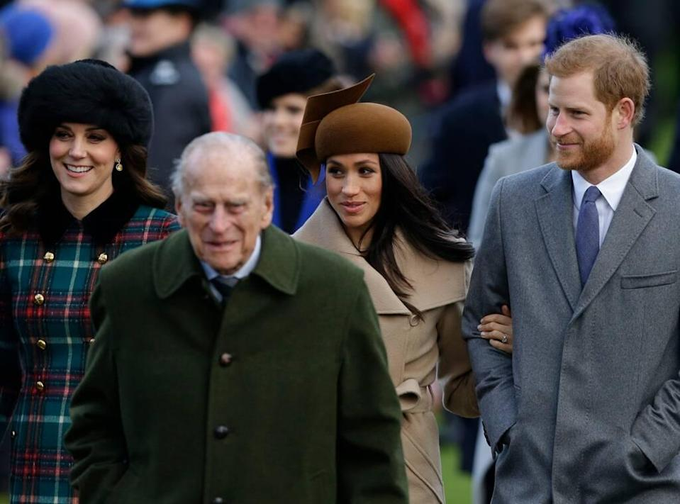 Kate Middleton, Prince Philip, Meghan Markle, Prince Harry