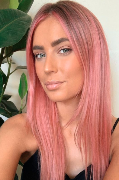 Paige Bachelor 2020 pink hair transformation