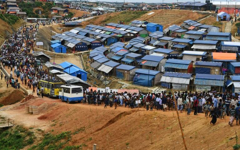 More than 720,000 Rohingya Muslims fled Myanmar's western Rakhine state in a military crackdown from August last year, with many now living in Bangladeshi refugee camps