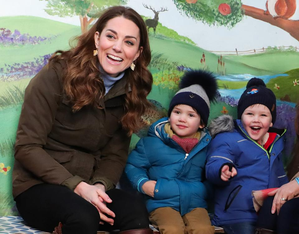 NEWTOWNARDS, NORTHERN IRELAND - FEBRUARY 12: Catherine, Duchess of Cambridge visits The Ark Open Farm on February 12, 2020 in Newtownards, Northern Ireland. This visit is part of her Early Years Foundation Survey.  (Photo by Pool/Samir Hussein/WireImage)