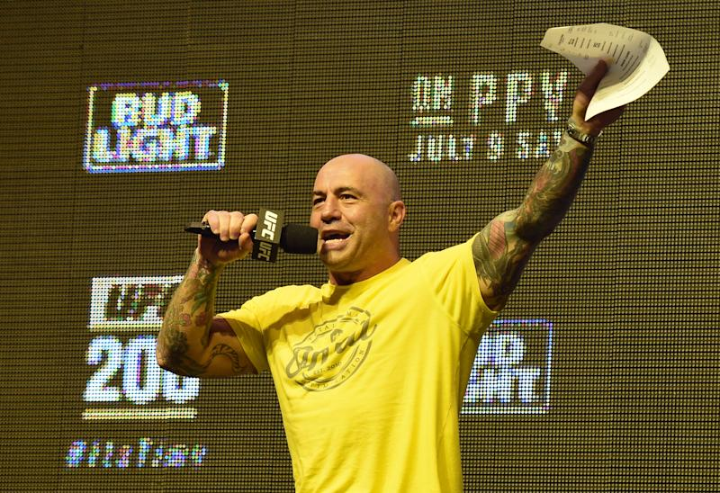 Joe Rogan is helping Miriam Nakamoto on the comeback trail by covering a medical treatment she could not afford. (Photo by Ethan Miller/Getty Images)