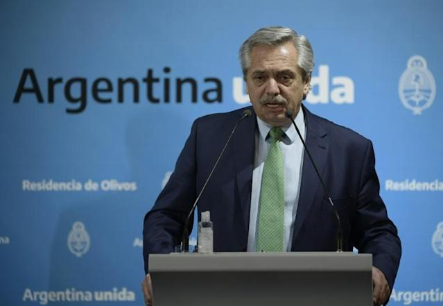 President Alberto Fernandez's government is expecting to come to an agreement before Argentina suffers the full effects of its default (AFP Photo/JUAN MABROMATA)