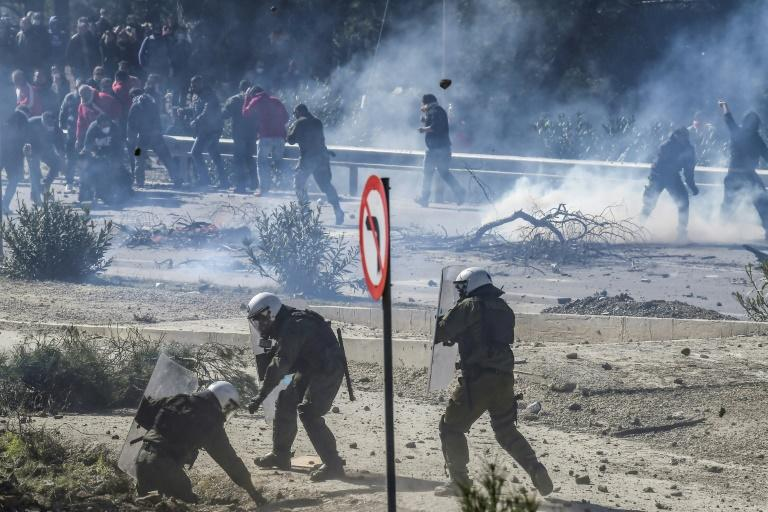More than 60 people, mostly police officers, were injured in violent clashes on Wednesday